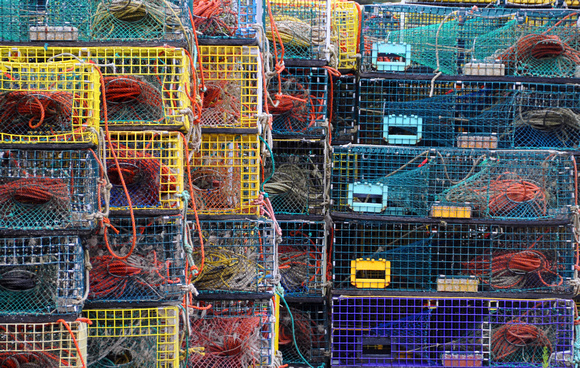 Lobster Traps In Port Clyde